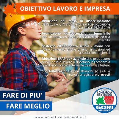 Obiettivo Lavoro - Obiettivo Lombardia per le Autonomie Gori Presidente