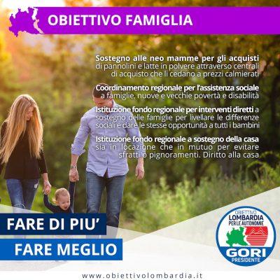 Obiettivo Famiglia - Obiettivo Lombardia per le Autonomie Gori Presidente