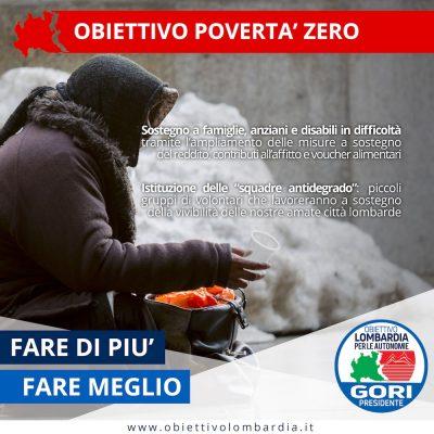 Obiettivo Povertà 0 - Obiettivo Lombardia per le Autonomie Gori Presidente