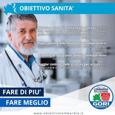 Obiettivo Sanità - Obiettivo Lombardia per le Autonomie Gori Presidente