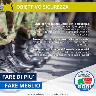 Obiettivo Sicurezza - Obiettivo Lombardia per le Autonomie Gori Presidente