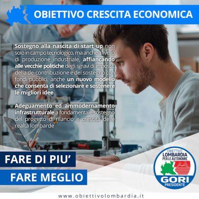 Obiettivo Crescita Economica - Obiettivo Lombardia per le Autonomie Gori Presidente