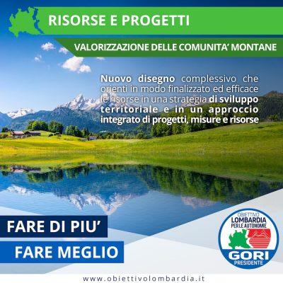 Comunità Montane - Montagna - Obiettivo Lombardia per le Autonomie Gori Presidente