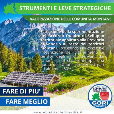 Comunità Montane - Montagna e leve strategiche - Obiettivo Lombardia per le Autonomie Gori Presidente