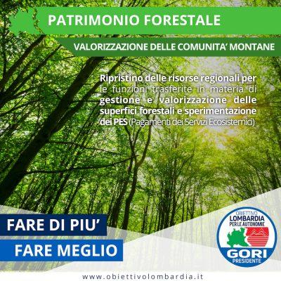 Comunità Montane - Patrimonio Forestale - Obiettivo Lombardia per le Autonomie Gori Presidente