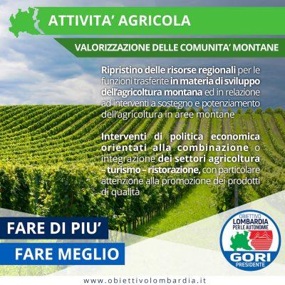 Comunità Montane - Attività Agricole - Obiettivo Lombardia per le Autonomie Gori Presidente