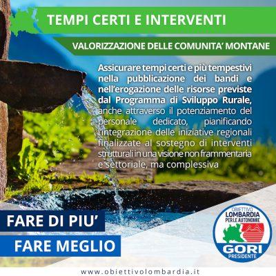 Comunità Montane - Interventi e tempi certi - Obiettivo Lombardia per le Autonomie Gori Presidente