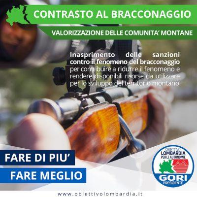 Comunità Montane - Bracconaggio - Obiettivo Lombardia per le Autonomie Gori Presidente